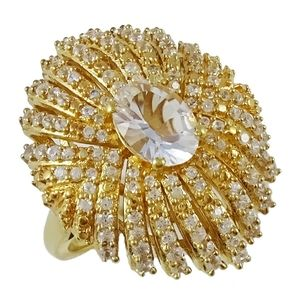 🎁NWT: Gold Petalite Waterfall Ring